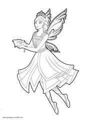barbie mariposa fairy princess coloring pages girls