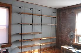 Industrial Shelving Unit by Industrial Chic Reclaimed Wood U0026 Pipe Shelving Unit Swoon Worthy