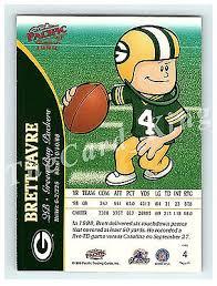 Backyard Sports Football Brett Favre Packers 1999 Pacific 4 Backyard Sports Football Cards