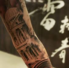 21 awesome architecturally inspired tattoo designs church tattoo