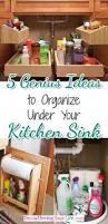clever ways to organize under your kitchen sink