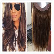 real hair extensions cheap grade 8a human flip in halo hair extensions 100