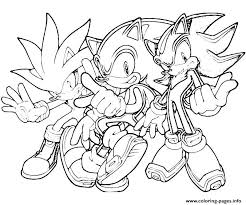 sonic hedgehog coloring pages printable funycoloring