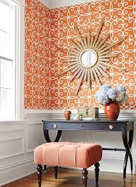 Orange Interior Best 25 Orange Wallpaper Ideas On Pinterest Orange Bath