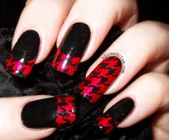 45 red and black nail designs polka dots nail art with red and