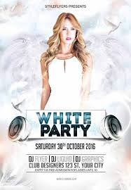 white party flyer template white party free flyer template