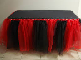 Minnie Mouse Table Covers Minnie Mouse Tutu Table Skirt