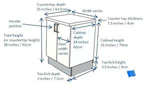 average height of kitchen cabinets kitchen cabinet base depth best cabinets drawers images on