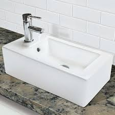 Wall Mount Bath Sink Decolav 1486l Cwh Wall Mount Or Above Counter Rectangular