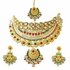 coloured stone necklace images Ethnic choker style gold plated designer coloured stone fashion jpg
