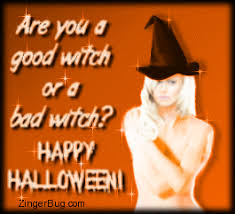 Sexy Halloween Meme - good witch or bad witch glitter graphic greeting comment meme or gif