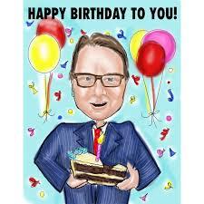 client birthday cards unique caricature corporate cards custom