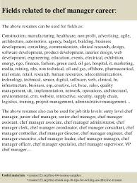 Sample Resume For Chef Job by Top 8 Chef Manager Resume Samples