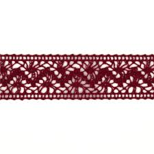 1 1 2 crochet lace ribbon burgundy discount designer fabric