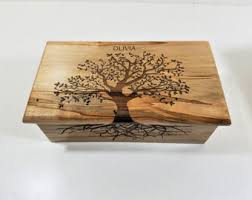 personalized wooden jewelry box engraved jewelry box etsy