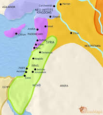 map of syria map of syria at 1000bc timemaps
