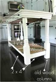 Kitchen Island Table With 4 Chairs Diy Kitchen Island From Stock Cabinets Diy Home Pinterest