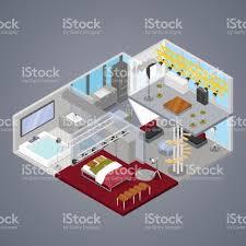 modern duplex apartment interior isometric stock vector art