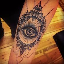 cool eye in the mirror tattoomagz