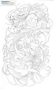 japanese dragon tattoo sleeve designs dragon koi half sleeve tattoo by brado umg tattoo design love