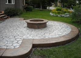 Concrete Fire Pit by Wonderful Fire Pit On Concrete Slab Garden Landscape