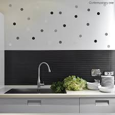 contemporary polka dot wall sticker set by oakdene designs contemporary polka dot wall sticker set
