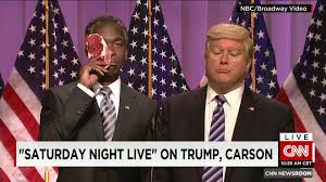 Snl Red Flag Snl Ben Carson Roughed Up At Trump Rally Cnn Video