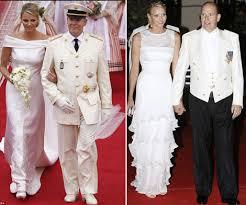 Armani Wedding Dresses Charlene Wittstock The Monaco Princess Bride Wore Armani Wedding