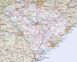 map of and south carolina south carolina road map