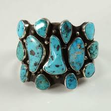 turquoise bracelet images Mark chee turquoise bracelet with natural turquoise vintage indian jpg