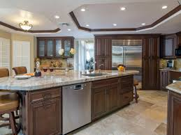 kitchen dark kitchen cabinets with ceiling lights and quartz