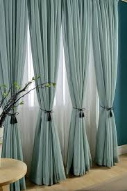 pictures of curtains delicate light teal linen blend sheer curtain made to by tailor2u