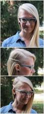deep side part skinny side braid tutorial