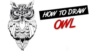 tribal owl tattoo how to draw an owl tribal tattoo design 149 youtube