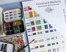printable greenleaf u0026 blueberry blank color chart print and