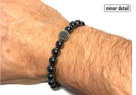 metal bead bracelet images Polished gun metal beaded bracelet minor detail png
