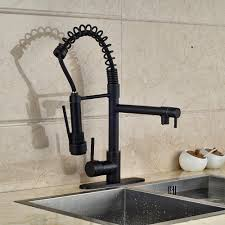 oil rubbed bronze kitchen faucet motes single hole pull down