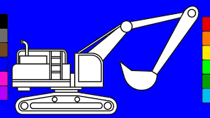 crane truck coloring pages learn colors for kids with