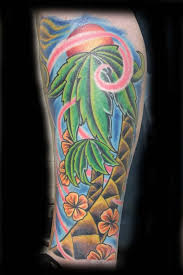 22 amazing sleeve palm tree tattoos