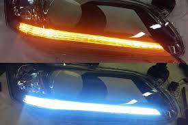 car led light strip universal led strips profile pivot switchback u2013 white amber led