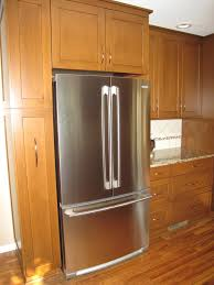 Kitchen Cabinets Depth by Refrigerator Surround Cabinets Re Cabinet Depth Refrigerator