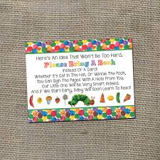 the very hungry caterpillar baby shower invitation insert please