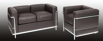 Corbusier Designed Sofa LC  Steelform Design Classics - Corbusier sofas