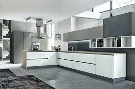 cuisine design blanche cuisines blanches et grises cuisine amenagement ilot design