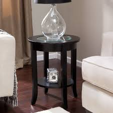 Cheap Living Room Furniture Small White Side Table Circular End Accent Tables For Living
