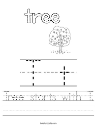 tree starts with t worksheet twisty noodle