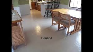 Vinyl Kitchen Flooring by Painted Vinyl Floor Youtube
