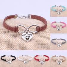 fashion infinity bracelet images Fashion dogs paw best friend cat charms pendant velvet leather jpg