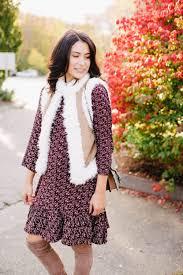 thanksgiving vest thanksgiving idea shearling vest cranberry dress byquinn