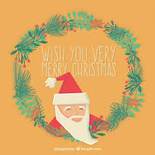 wish you a merry card vector free